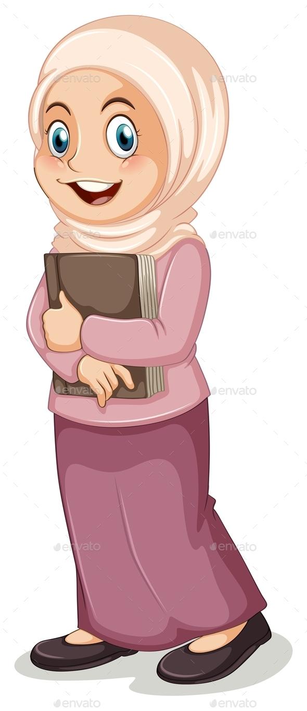 Muslim Teacher Clipart.