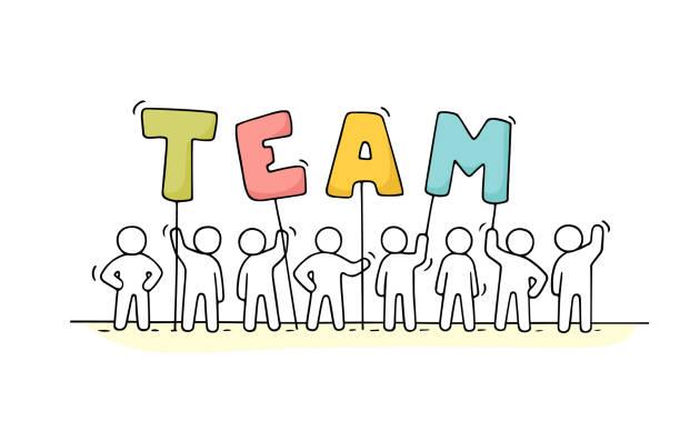 Best Teamwork Illustrations, Royalty.
