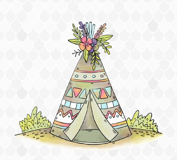Teepee clipart 3 » Clipart Station.