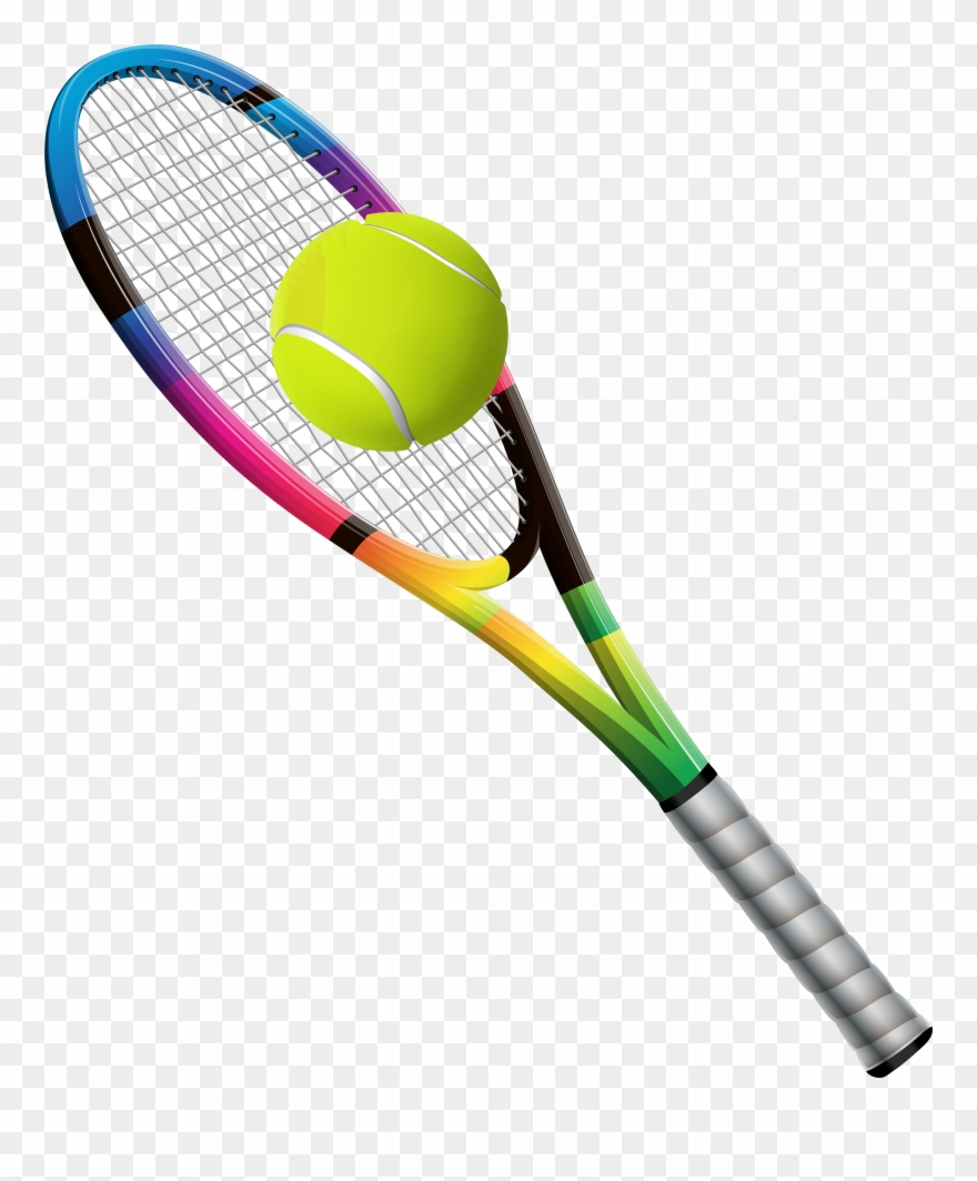 Tennis Racket And Ball Transparent Png Clip Art Image.