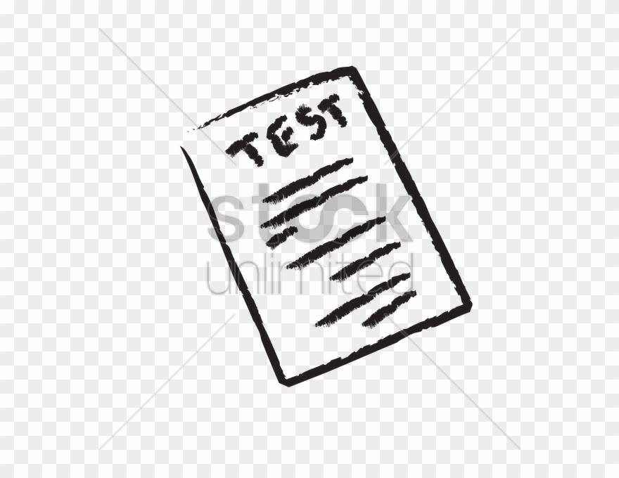 A Test Paper Vector Image Clipart Paper Examination.