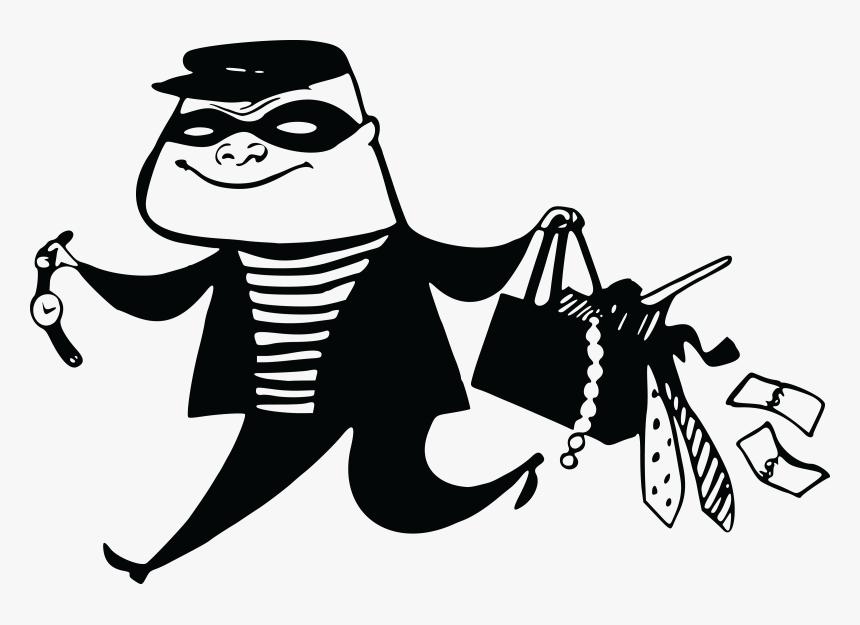 Diaryofanut Thief Clipart Black And White.