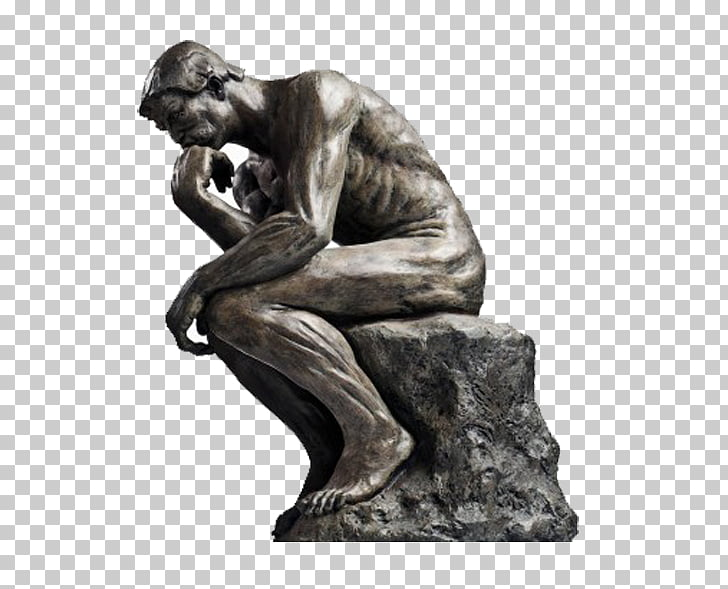 The Thinker Statue Thought Sculpture, others, man statue PNG.