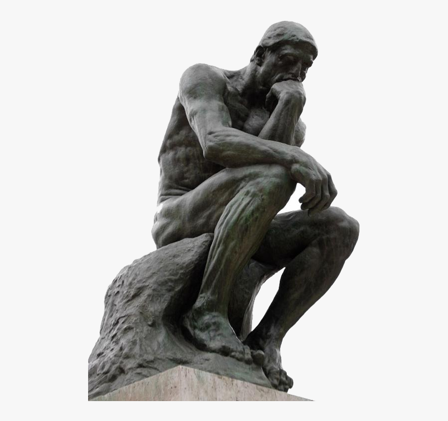 Thinking Man Statue Png.