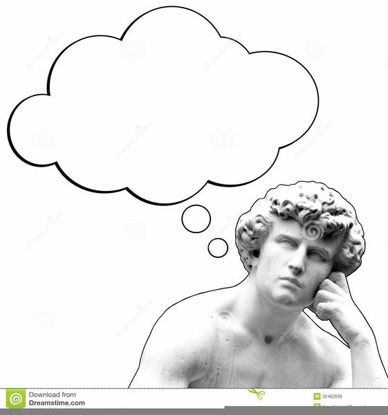 Thinking Man Statue Clipart.