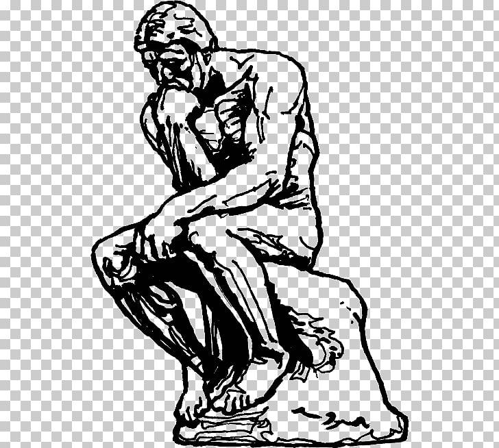 The Thinker The Gates of Hell Sculpture Drawing Masterpiece.