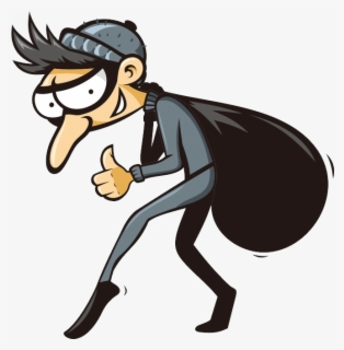 Free Thief Clip Art with No Background.