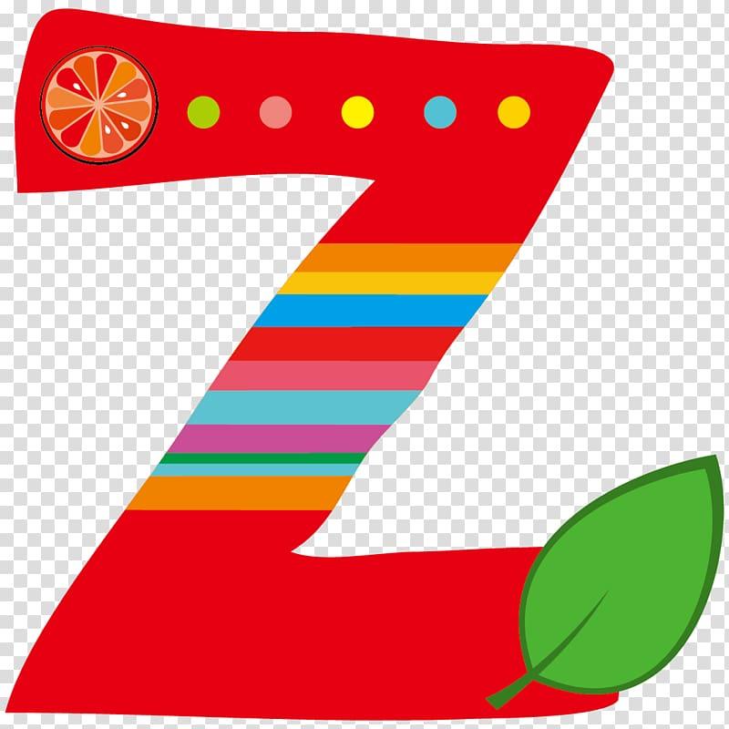 Z Letter xc5 Alphabet, Cartoon Creative Fruit Letter Z.