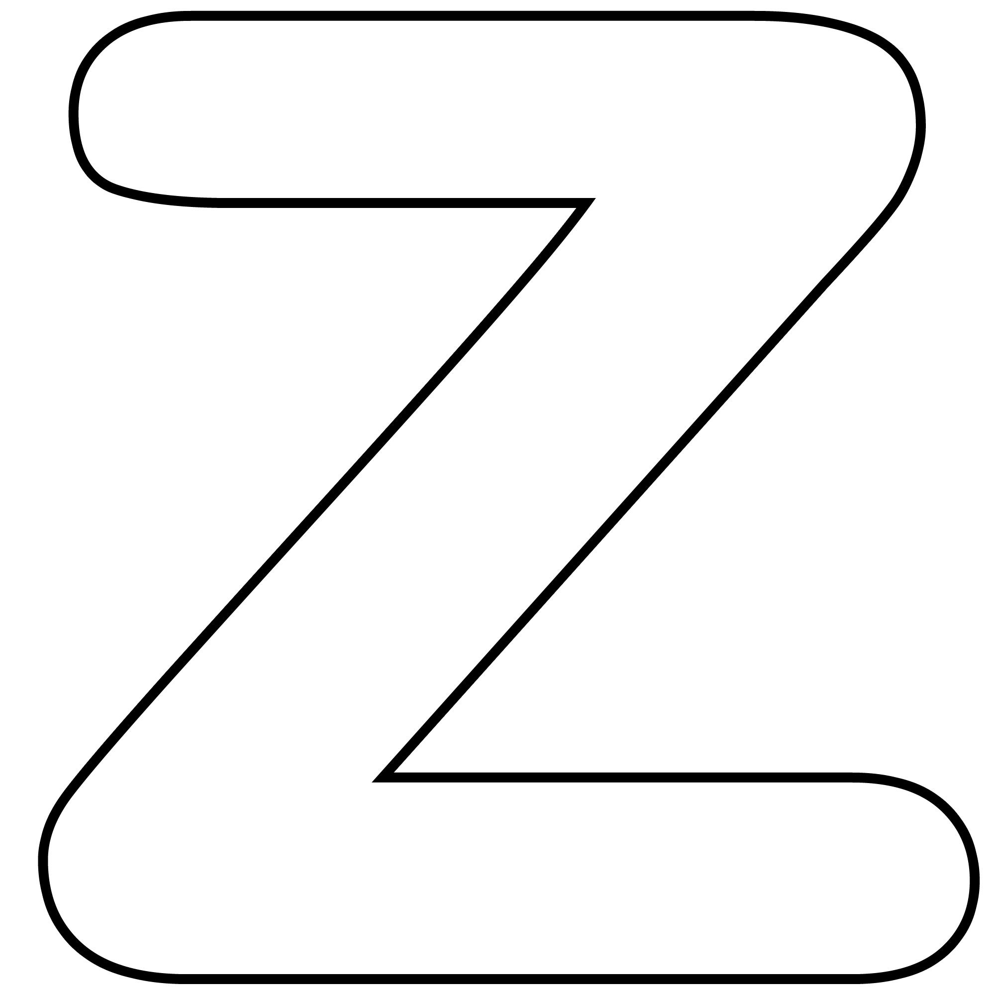 Letter Z Clipart Black And White.