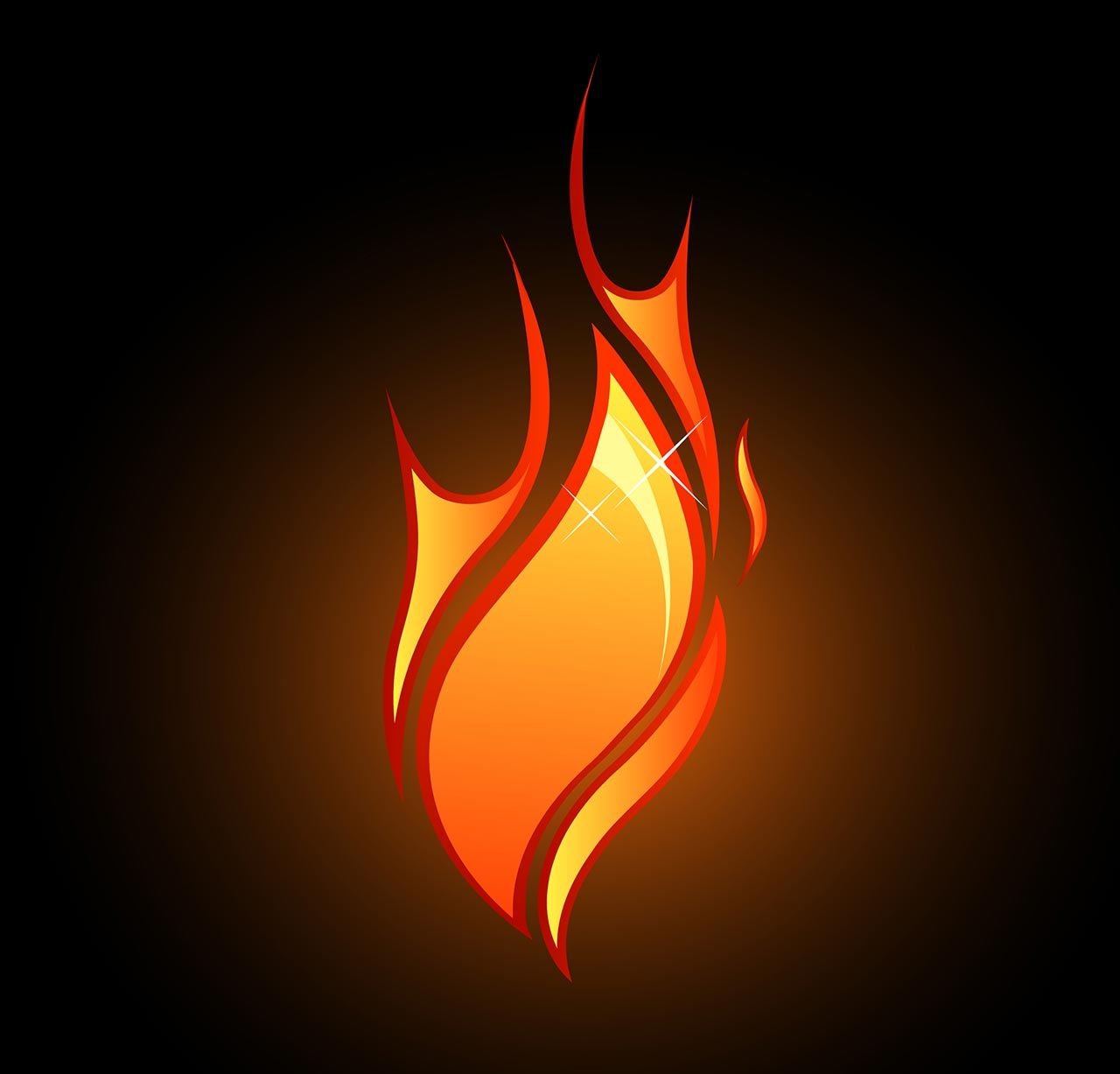 Tongue Of Fire Clipart.