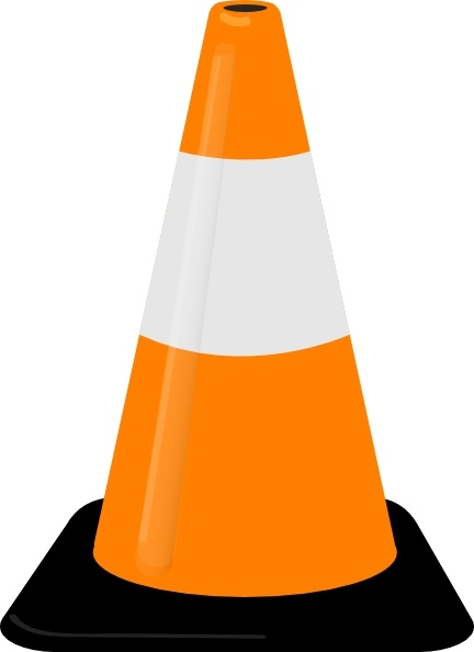 Traffic Cone clip art Free vector in Open office drawing svg.