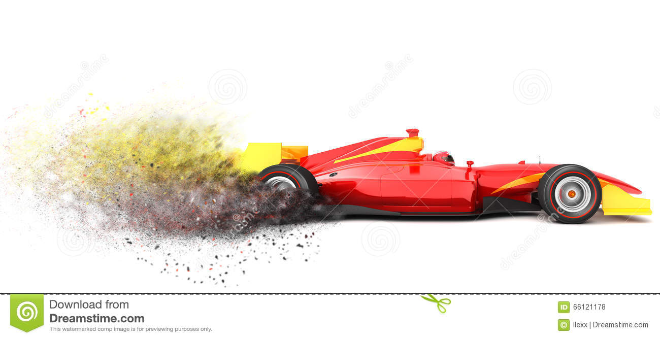 A Trail Of Dust From A Race Car Clipart.