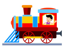 Free Train Clipart.