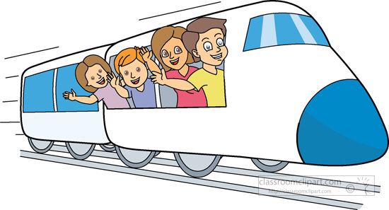 By Train Clipart.