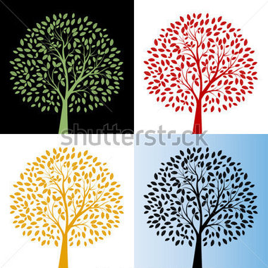 A tree of choices clipart.