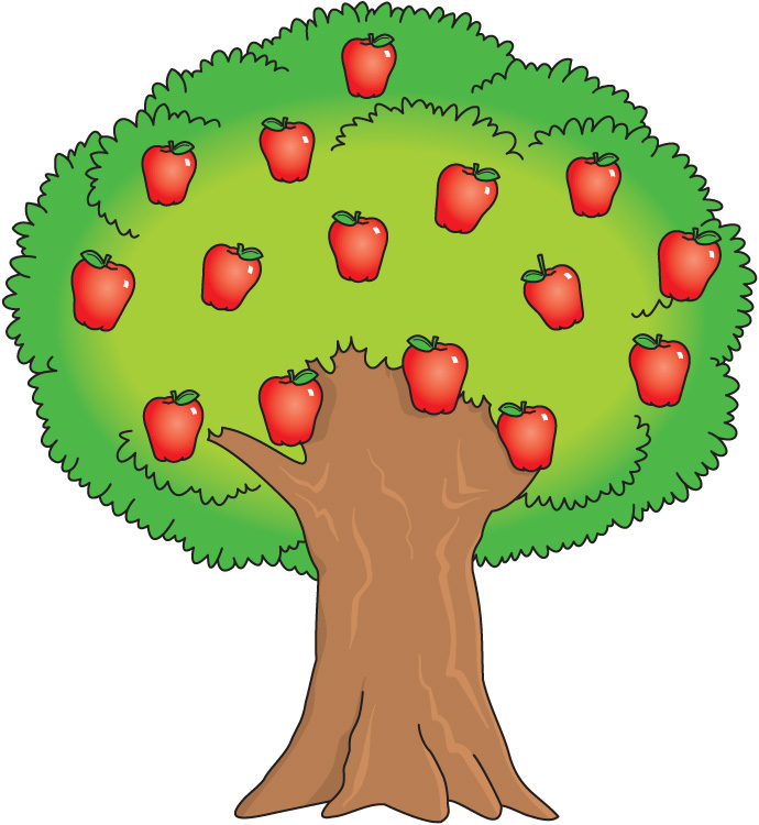 Tree With Fruit Clipart.
