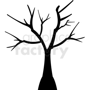 tree design without leaves clipart. Royalty.