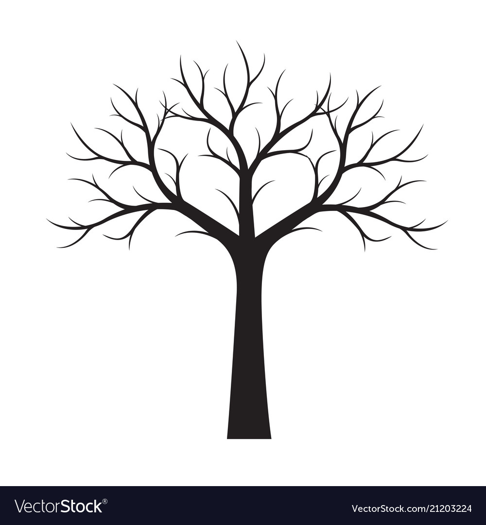 Shape of black tree without leaves.