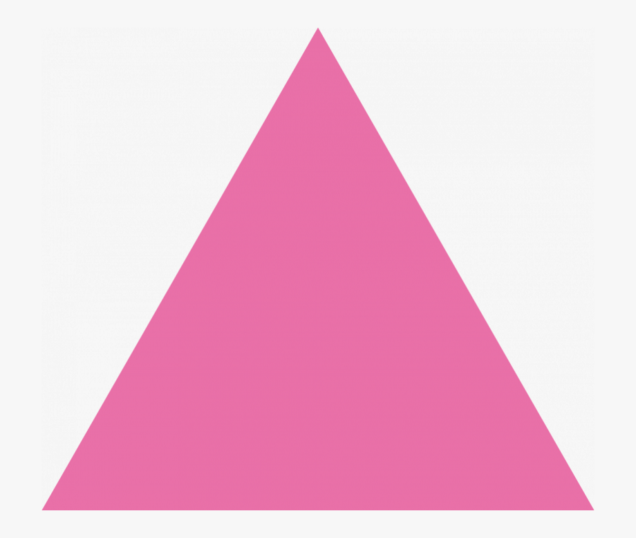 Pink Triangle Shaped Magnets.