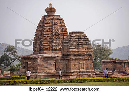 Stock Photo of Temple building from the Chalukya dynasty, UNESCO.