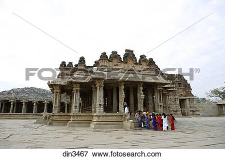 Picture of Temple in Hampi ; Vijayanagar built between 1336.