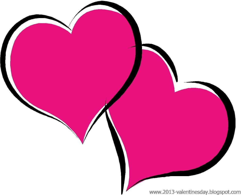 Cute Black And White Valentine Heart Clipart.