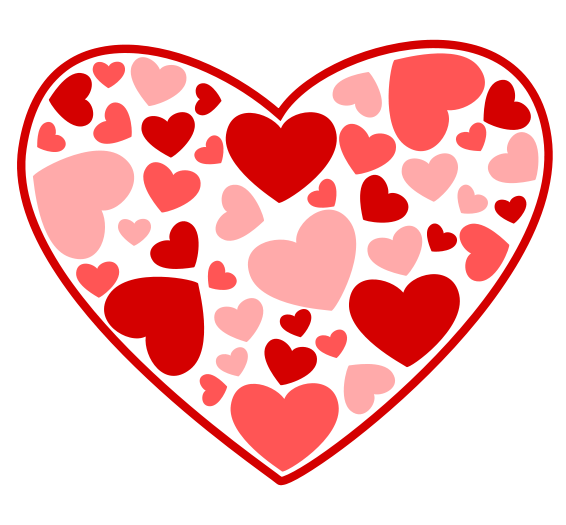 Pink valentine heart clip art clipart photo.