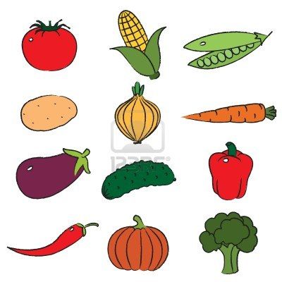 Fruits And Veggies Clipart.