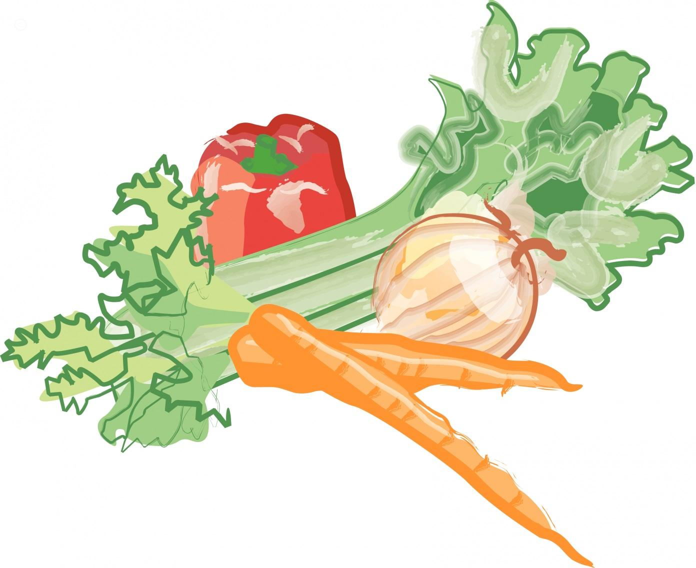 Free clip art cartoon vegetables.