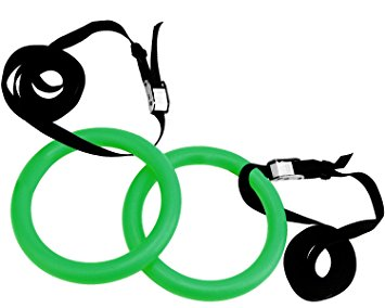 Amazon.com : Reehut Gymnastic Rings W/ Adjustable Straps, Metal.