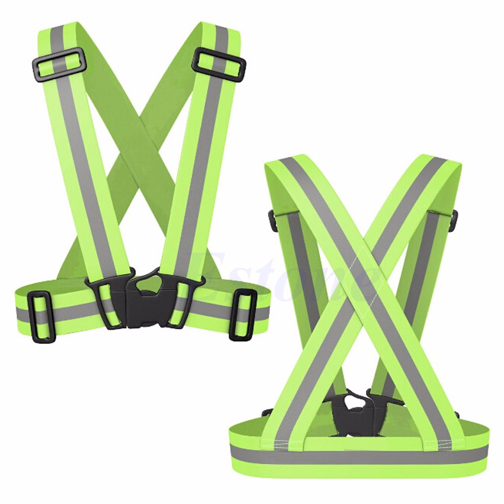 Adjustable Safety Security High Visibility Reflective Vest Gear.