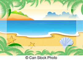 Vector Clip Art of Sea View.