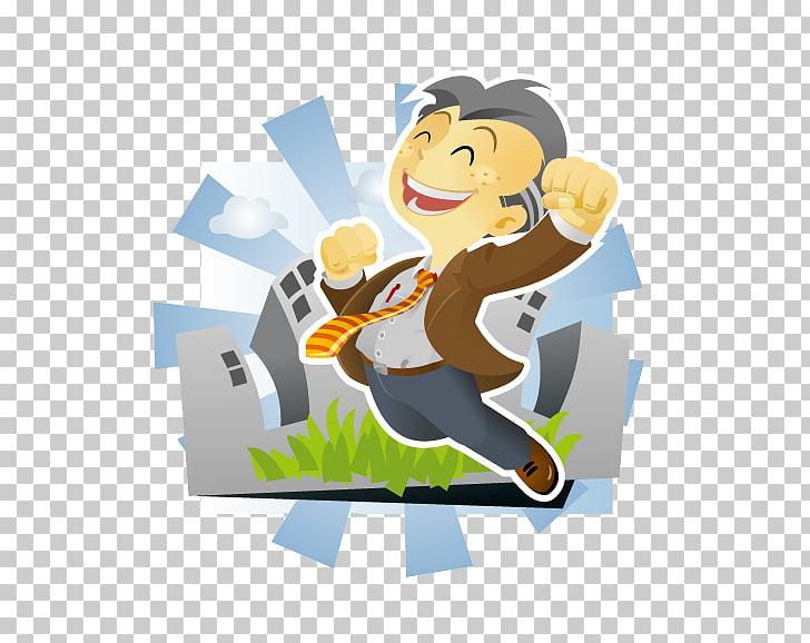 Job hunting Wish Greeting card, Sunshine villain PNG clipart.