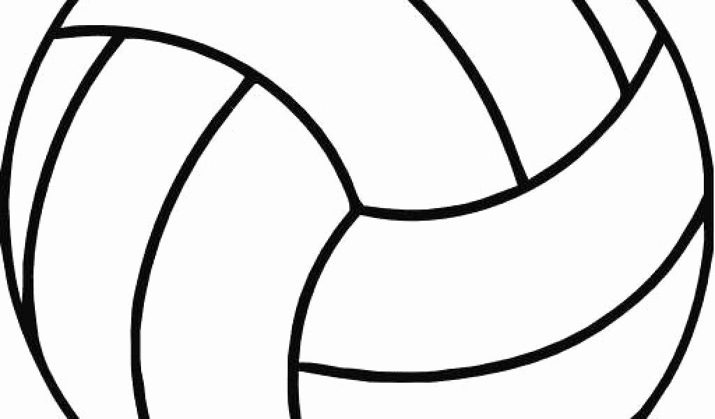 Free Printable Volleyball Templates Of Volleyball Clipart Black and.