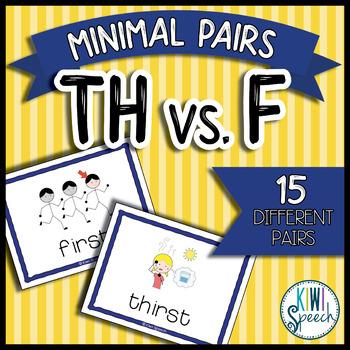 TH vs. F Minimal Pairs Flashcards {FREEBIE}.