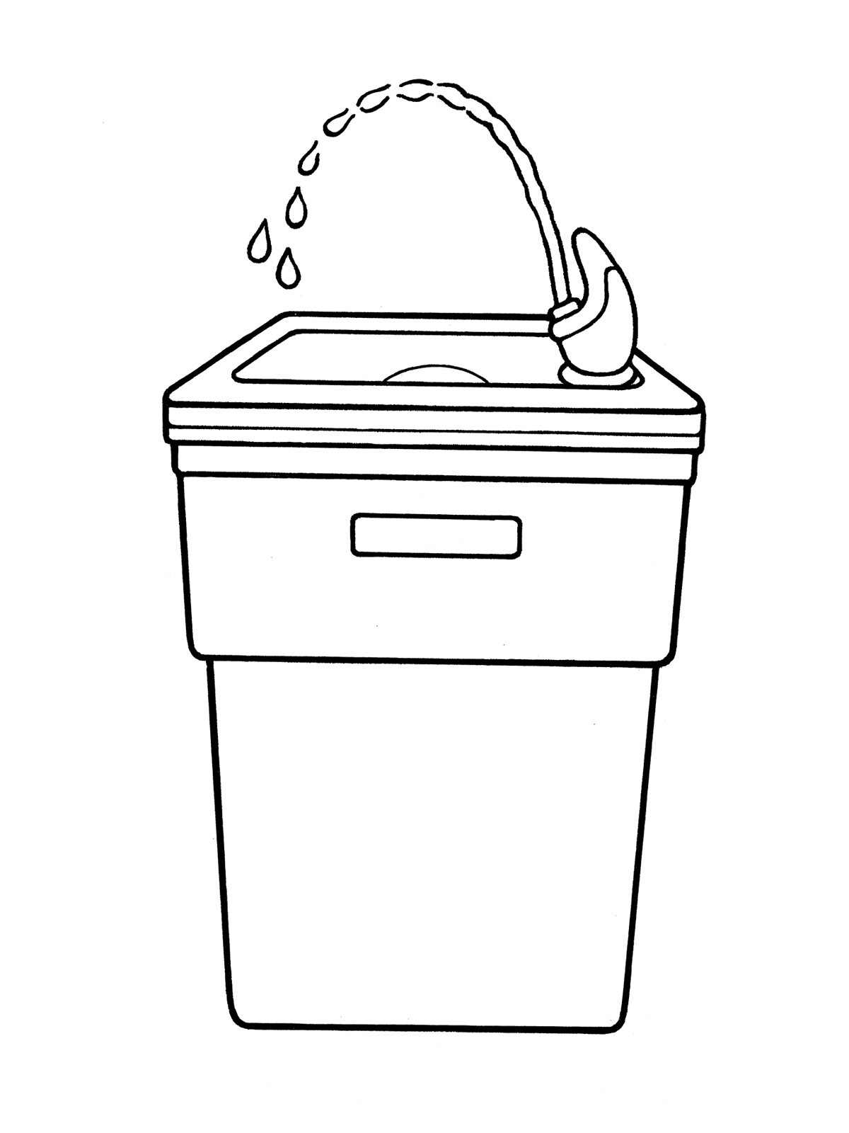 Water Fountain Clipart Black And White.