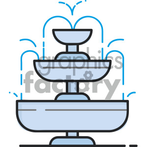 water fountain vector royalty free icon art . Royalty.