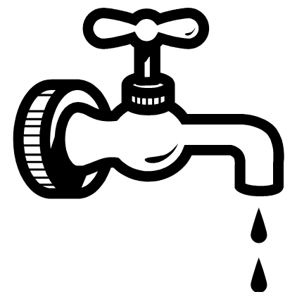 Water Tap Clipart Black And White.