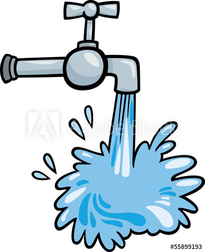 water tap clip art cartoon illustration.