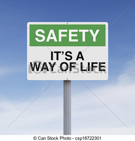 Stock Photography of Safety is a Way of Life.