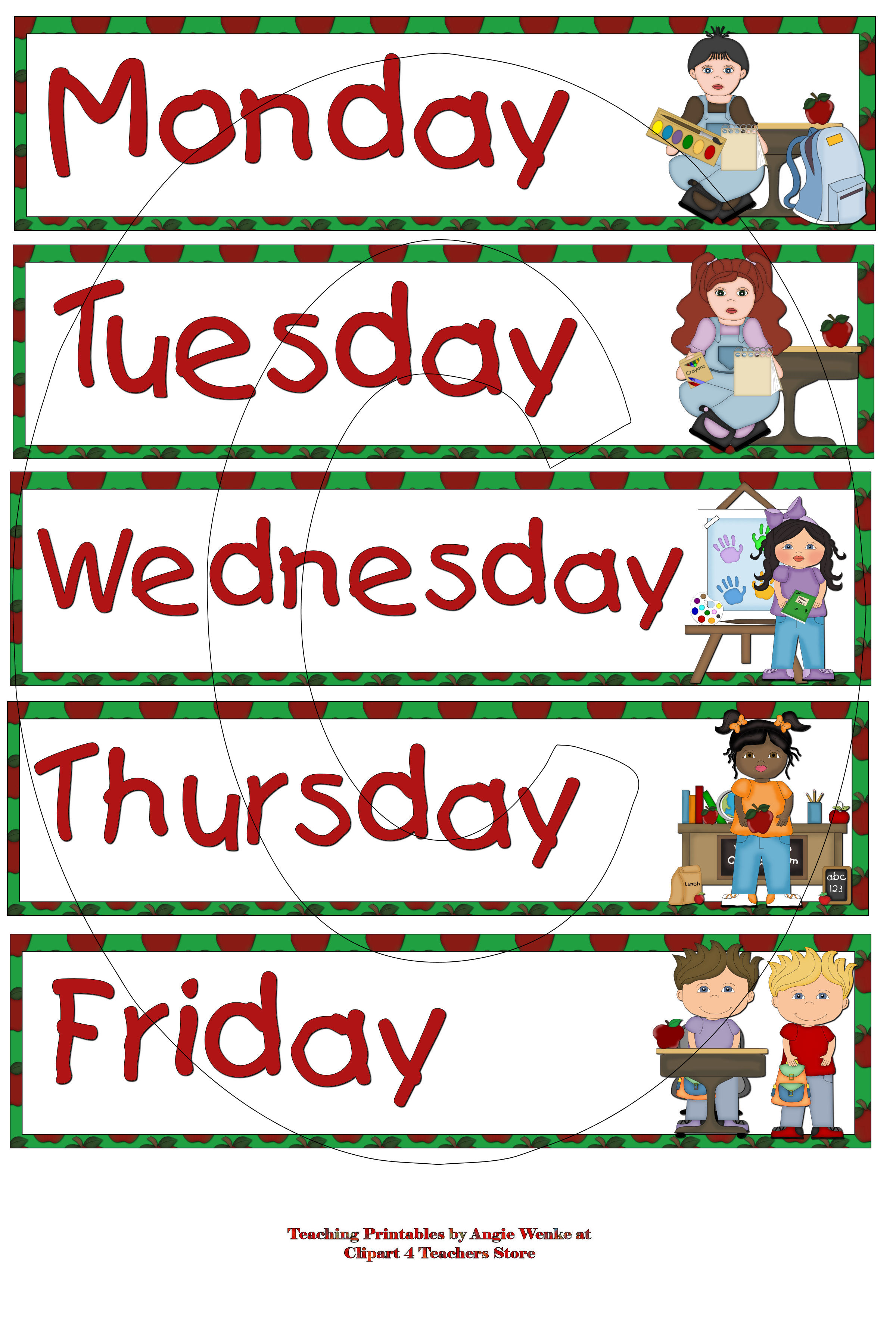 Days of the week clipart 13 » Clipart Station.