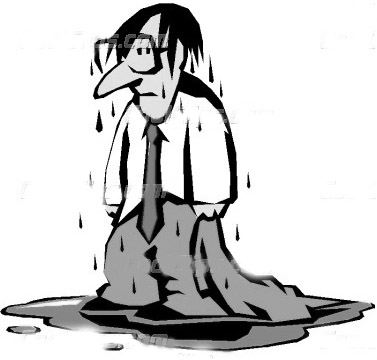 Wet person clipart.