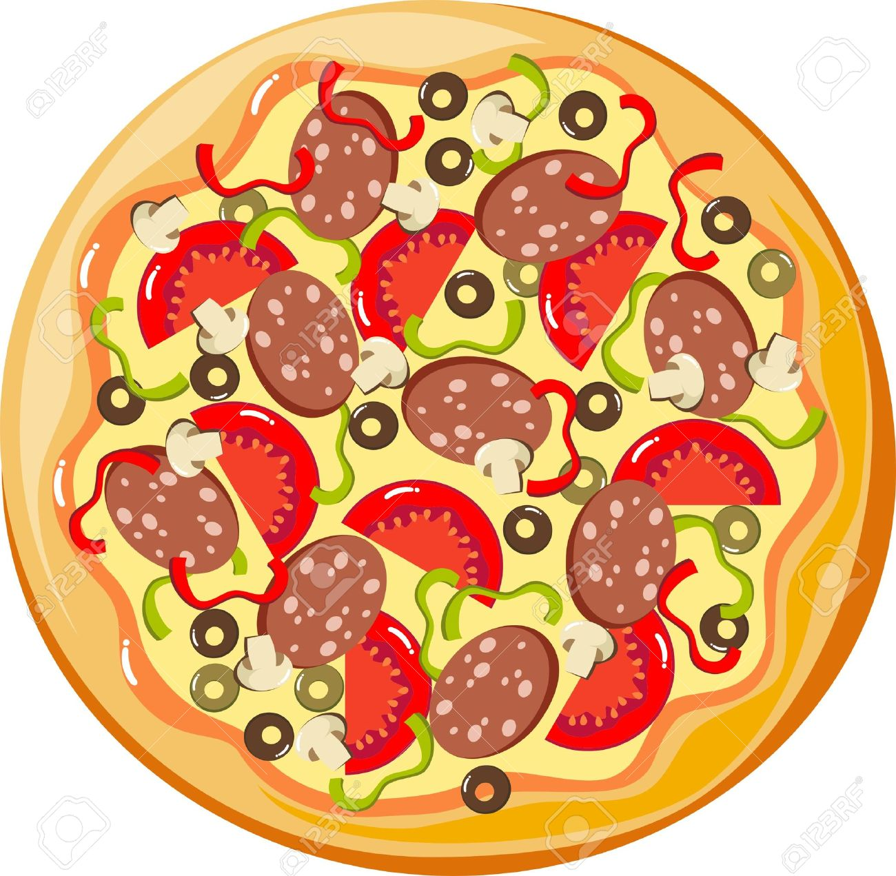Whole pizza clipart 3 » Clipart Station.