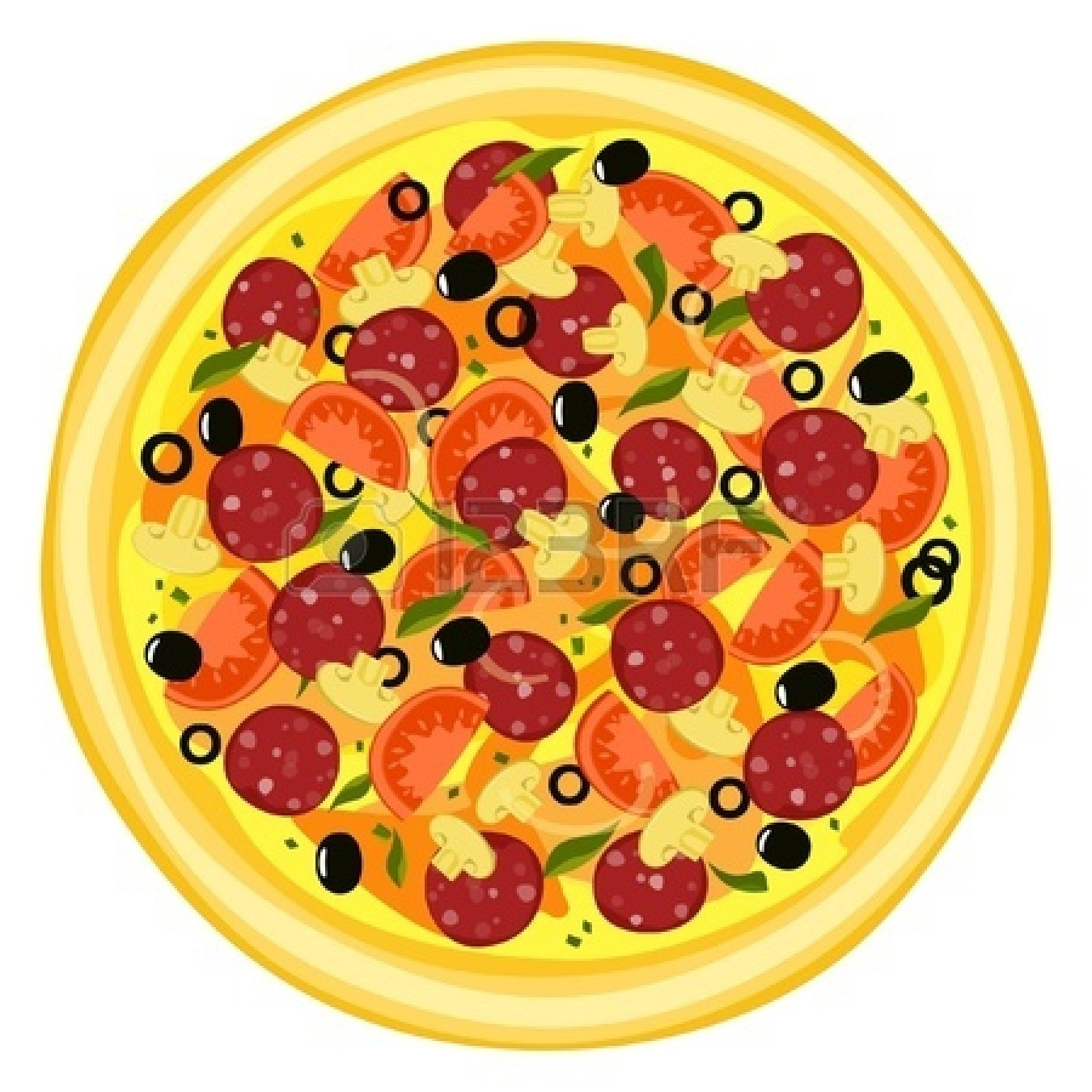 Whole pizza clipart 1 » Clipart Station.