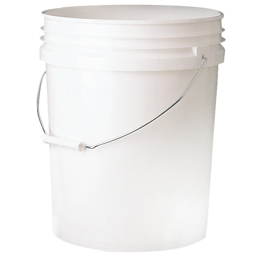 Leaktite 5 gal. 70mil Food Safe Bucket White.