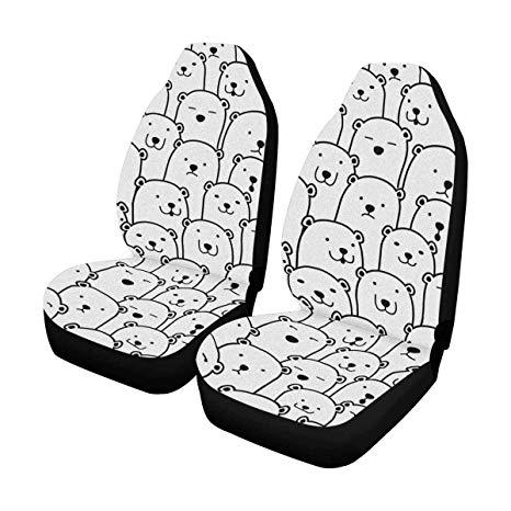 Amazon.com: INTERESTPRINT Polar Bear Car Seat Cover Front.
