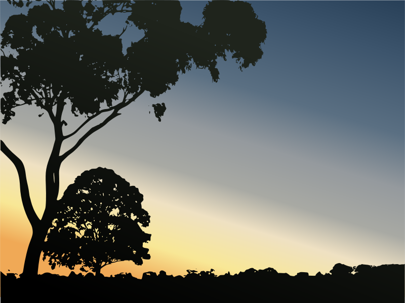 Free Clipart: Winter Sunset in Royal Park.