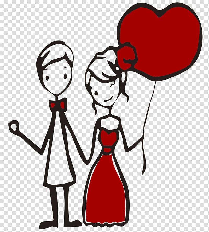 Couple Falling in love Woman, Loving couple cartoon.