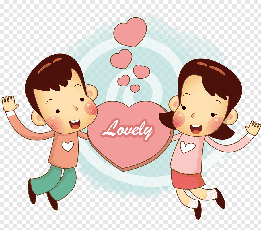 Man and woman, Holding a loving couple free png.