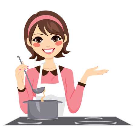 Lady cooking clipart 1 » Clipart Station.